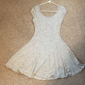 Grey static T-Shirt material dress